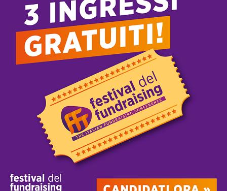 Tre Borse di Studio per il Festival del Fundraising 2019