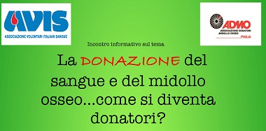"""""""La donazione del sangue e del midollo osseo… come si diventa donatori?"""", a Taranto un evento di sensibilizzazione sul tema"""