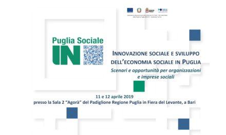 La Regione Puglia promuove un seminario su politiche e strumenti per l'innovazione sociale.