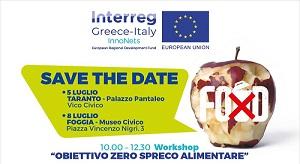 """""""Obiettivo zero spreco alimentare"""" a Taranto un workshop sul tema"""