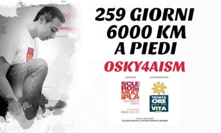 """#OSKY4AISM arriva in Puglia, la """"sua"""" storia è quella  di tante persone con SM"""