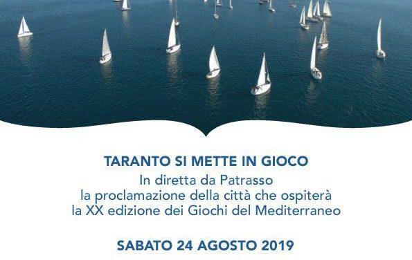 GIOCHI DEL MEDITERRANEO … Taranto si mette in gioco