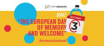 3 ottobre Giornata europea della memoria e dell'accoglienza. Anche CSVnet aderisce alla campagna