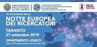 "La ""Notte Europea dei Ricercatori"" a Taranto"
