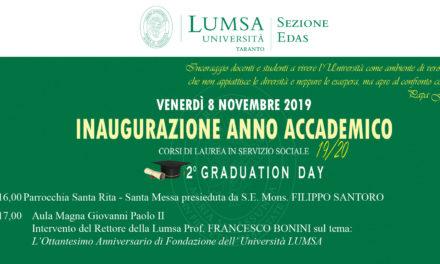 Corsi di Laurea in Servizio Sociale LUMSA, inaugurazione dell'Anno Accademico 2019/2020