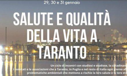 """Ciclo di incontri a cura di A Sud per il progetto """"Salute e Qualità della Vita a Taranto"""""""
