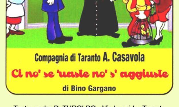 """""""Ci no' se 'uaste no' s'aggiuste"""", spettacolo di beneficenza"""