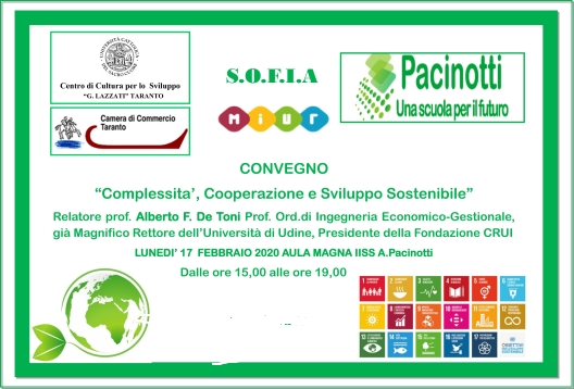 """A Taranto il Convegno """"Complessità, Cooperazione, Sviluppo Sostenibile"""""""