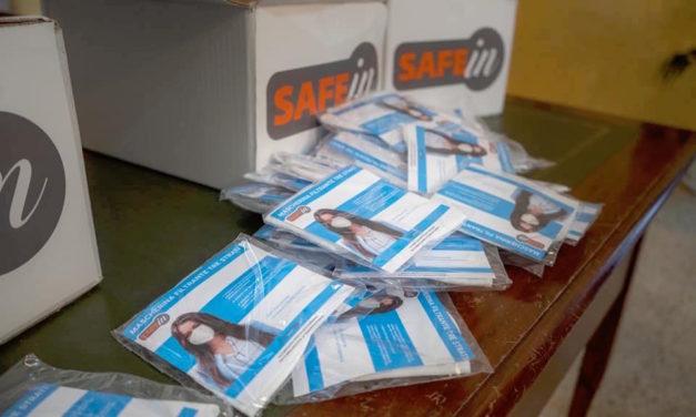 """500 mascherine """"Safe in"""" donate al Comune di Mottola"""