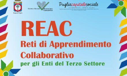 Progetto REAC – Reti di Apprendimento Collaborativo. A maggio nuovo appuntamento