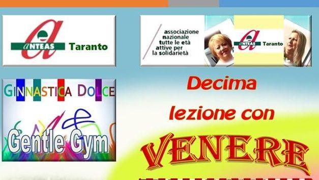 Ginnastica dolce per anziani sulla pagina Facebook dell'Anteas Taranto