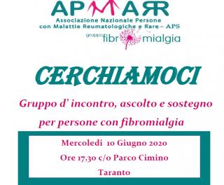 Riparte a Taranto il gruppo d'ascolto e sostegno per persone con fibromialgia