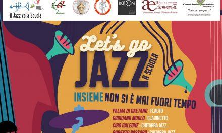 """Rinvio al 5 luglio del concerto di """"Let's go …Jazz a scuola – INSIEME non si è mai fuori tempo"""""""