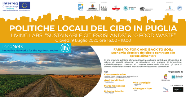 """Farm to fork and back to soil: economia circolare del cibo e contrasto allo spreco alimentare"""