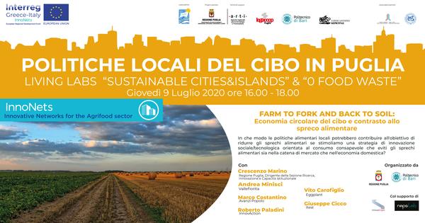 """""""Farm to fork and back to soil: economia circolare del cibo e contrasto allo spreco alimentare"""""""