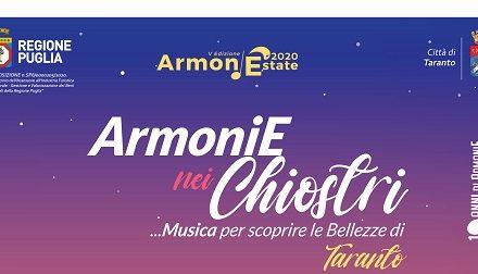 """Il successo della Rassegna musicale """"ArmoniE nei Chiostri"""" in Città Vecchia"""