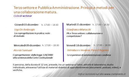 Terzo settore e Pubblica Amministrazione. Principi e metodi per una collaborazione matura.