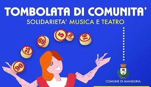 """""""TOMBOLATA DI COMUNITÀ"""": solidarietà musica e teatro"""