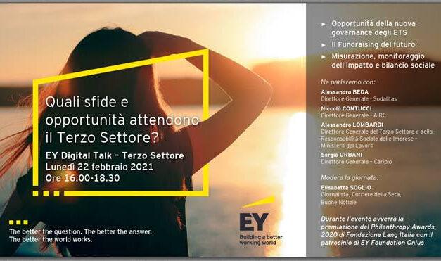 """""""L'evoluzione del Terzo Settore: sfide e opportunità"""". Evento on line sulle sfide del Terzo settore"""