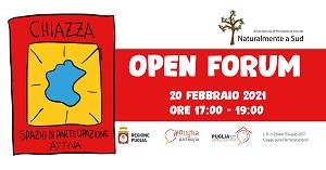 """""""Chiazza"""" apre il suo spazio on-line alla comunità con un Open Forum"""