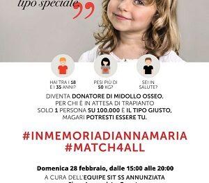 #inmemoriadiannamaria. L'appello di ADMO Puglia a donare il midollo osseo.