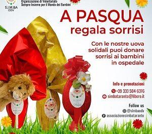 """""""A Pasqua regala sorrisi"""" con le uova solidali di S.I.M.BA"""