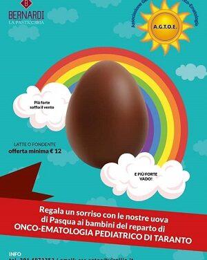 """Le Uova di Pasqua di """"Bernardi"""" per i bambini del reparto di Onco-ematologia pediatrica dell'Ospedale SS. Annunziata di Taranto"""