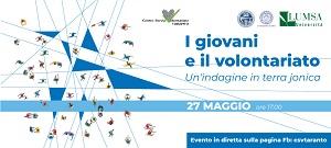 """Evento di presentazione """"I Giovani e il Volontariato. Un'indagine in terra jonica"""""""