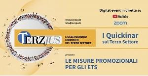 """""""Le misure promozionali per gli ETS"""". I nuovi quickinar di Terzjus"""