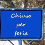 Chiusura del CSV Taranto per l'estate 2021