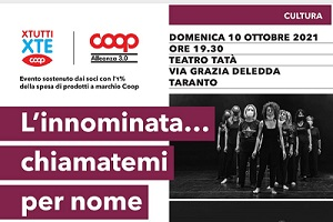 """""""L'innominata…chiamatemi per nome"""", performance conclusiva del laboratorio teatrale dedicato alle donne vittime di violenza"""